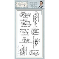 Creative Expressions - Sentimentally Yours Collection - Clear Acrylic Stamp - Bohemian Essential Sentiments