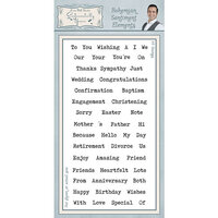 Creative Expressions - Sentimentally Yours Collection - Clear Acrylic Stamp - Bohemian Sentiment Elements