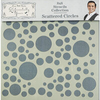 Creative Expressions - Sentimentally Yours Collection - Stencils - 8 x 8 - Scattered Circles