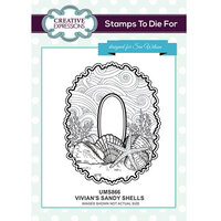 Creative Expressions - Stamps To Die For Collection - Clear Acrylic Stamps - Vivian's Sandy Shells
