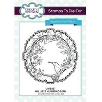 Creative Expressions - Stamps To Die For Collection - Clear Acrylic Stamps - Millie's Hummingbird