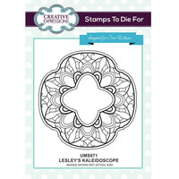 Creative Expressions - Stamps To Die For Collection - Clear Acrylic Stamps - Lesley's Kaleidoscope
