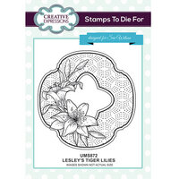Creative Expressions - Stamps To Die For Collection - Clear Acrylic Stamps - Lesley's Tiger Lilies