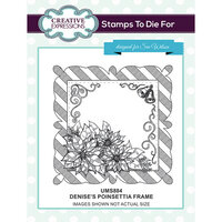 Creative Expressions - Christmas - Unmounted Rubber Stamps - Denise's Poinsettia Frame