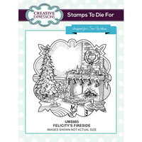Creative Expressions - Christmas - Unmounted Rubber Stamps - Felicitys's Fireside