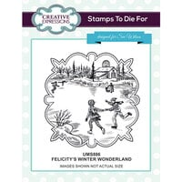 Creative Expressions - Christmas - Unmounted Rubber Stamps - Felicitys's Winter Wonderland