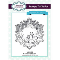 Creative Expressions - Christmas - Unmounted Rubber Stamps - Hayley's Foxes