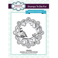 Creative Expressions - Christmas - Unmounted Rubber Stamps - Danielle's Partridge