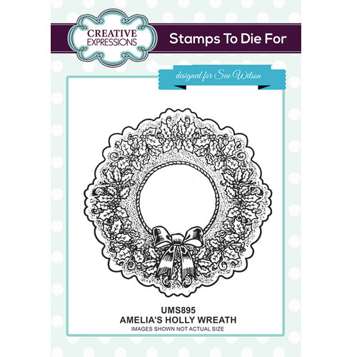 Creative Expressions - Christmas - Unmounted Rubber Stamps - Amelia