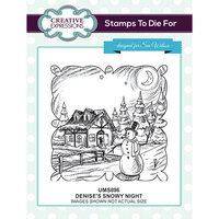 Creative Expressions - Christmas - Unmounted Rubber Stamps - Denise's Snowy Night