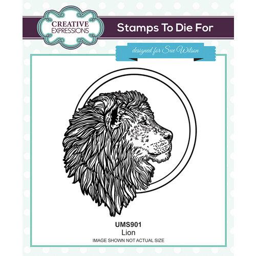 Creative Expressions - Safari Collection - Pre Cut Rubber Stamp - Lion