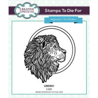 Creative Expressions - Safari Collection - Pre Cut Rubber Stamp - Lion