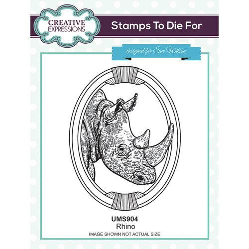 Creative Expressions - Safari Collection - Pre Cut Rubber Stamp - Rhino