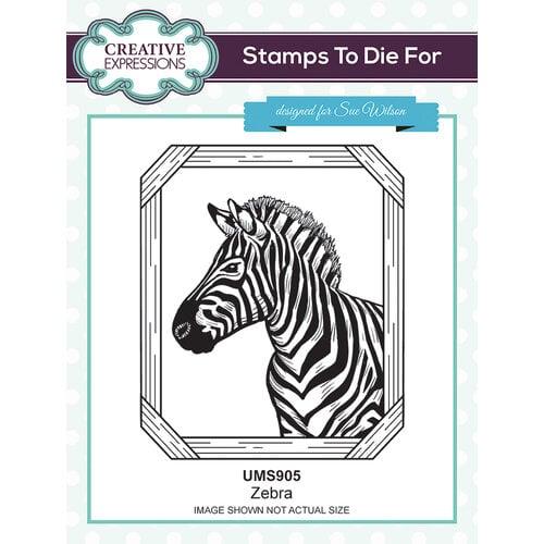 Creative Expressions - Safari Collection - Pre Cut Rubber Stamp - Zebra