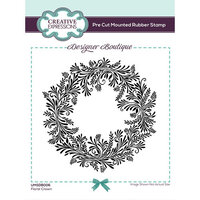 Creative Expressions - Designer Boutique Collection - Pre Cut Rubber Stamp - Floral Crown