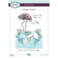 Creative Expressions - Designer Boutique Collection - Clear Acrylic Stamps - Flamingo Oasis