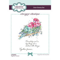 Creative Expressions - Designer Boutique Collection - Clear Acrylic Stamps - Together Forever