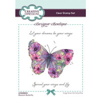 Creative Expressions - Designer Boutique Collection - Clear Acrylic Stamps - Blossom Butterfly