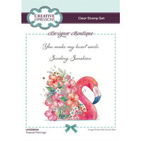 Creative Expressions - Designer Boutique Collection - Clear Acrylic Stamps - Tropical Flamingo