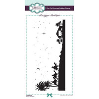 Creative Expressions - Designer Boutique Collection - Pre Cut Rubber Stamp - Follow The Star