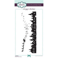 Creative Expressions - Designer Boutique Collection - Pre Cut Rubber Stamp - Above The Roof Tops