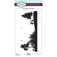 Creative Expressions - Designer Boutique Collection - Pre Cut Rubber Stamp - Moonlit Gathering