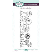Creative Expressions - Designer Boutique Collection - Pre Cut Rubber Stamp - Bauble Garland