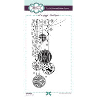 Creative Expressions - Designer Boutique Collection - Pre Cut Rubber Stamp - Bauble Pendant