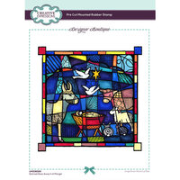 Creative Expressions - Designer Boutique Collection - Stained Glass Away In a Manger