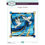 Creative Expressions - Designer Boutique Collection - Stained Glass Doves of Peace
