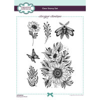 Creative Expressions - Designer Boutique Collection - Clear Acrylic Stamps - Dazzling Sunflower