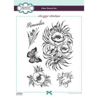 Creative Expressions - Designer Boutique Collection - Clear Acrylic Stamps - Remember