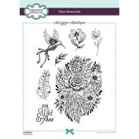 Creative Expressions - Designer Boutique Collection - Clear Acrylic Stamps - Wild and Free