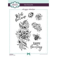 Creative Expressions - Designer Boutique Collection - Clear Acrylic Stamps - Beauty and The Bee