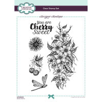 Creative Expressions - Designer Boutique Collection - Clear Acrylic Stamps - Sweet Cherry