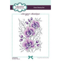 Creative Expressions - Designer Boutique Collection - Clear Photopolymer Stamps - Orchids In Bloom