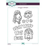 Creative Expressions - Designer Boutique Collection - Clear Photopolymer Stamps - A5 - Hippie Dogs