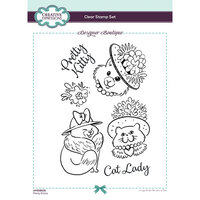 Creative Expressions - Designer Boutique Collection - Clear Photopolymer Stamps - A5 - Pretty Kitties