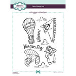 Creative Expressions - Designer Boutique Collection - Clear Photopolymer Stamps - A5 - Flying Penguins