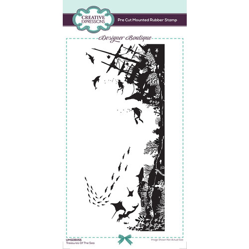 Creative Expressions - Designer Boutique Collection - DL Rubber Stamps - Treasures of the Sea