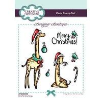 Creative Expressions - Designer Boutique Collection - Christmas - Clear Photopolymer Stamps - Giraffe Greetings