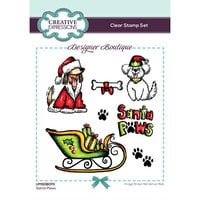 Creative Expressions - Designer Boutique Collection - Christmas - Clear Photopolymer Stamps - Santa Paws