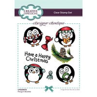 Creative Expressions - Designer Boutique Collection - Christmas - Clear Photopolymer Stamps - Penguin Baubles