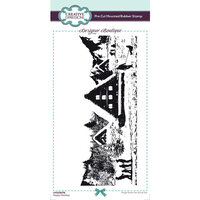 Creative Expressions - Designer Boutique Collection - Christmas - DL Unmounted Rubber Stamps - Slimline - Happy Holidays