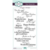 Creative Expressions - Designer Boutique Collection - Christmas - DL Clear Photopolymer Stamps - Slimline - Most Wonderful Time Of The Year