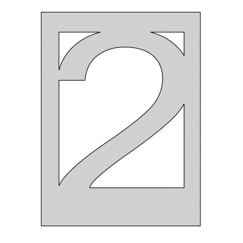 The Crafter's Workshop - Die Cutting Template - Number 2