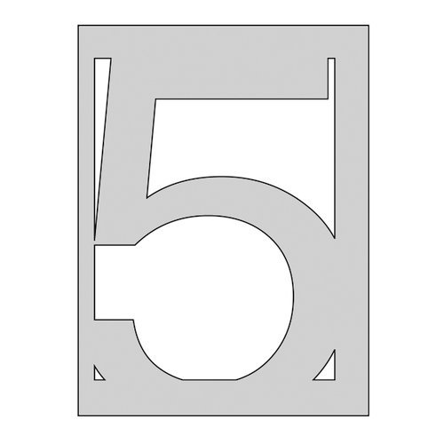 The Crafter's Workshop - Die Cutting Template - Number 5