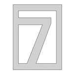 The Crafter's Workshop - Die Cutting Template - Number 7