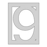 The Crafter's Workshop - Die Cutting Template - Number 9