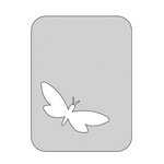 The Crafter's Workshop - Die Cutting Template - 3 x 4 Butterfly